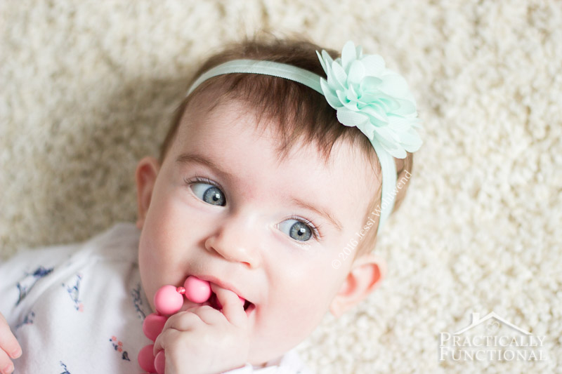 DIY No Sew Baby Flower Headbands 7