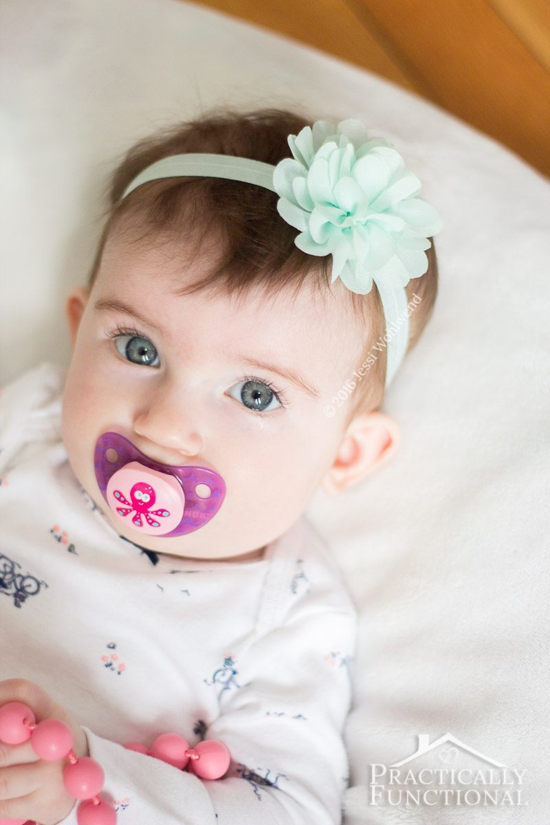 how to make diy baby flower headbands