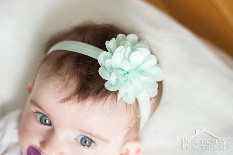 DIY No Sew Baby Flower Headbands 9