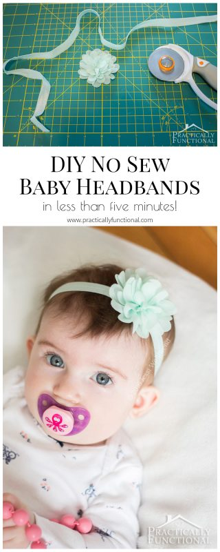 make your own diy baby flower headband