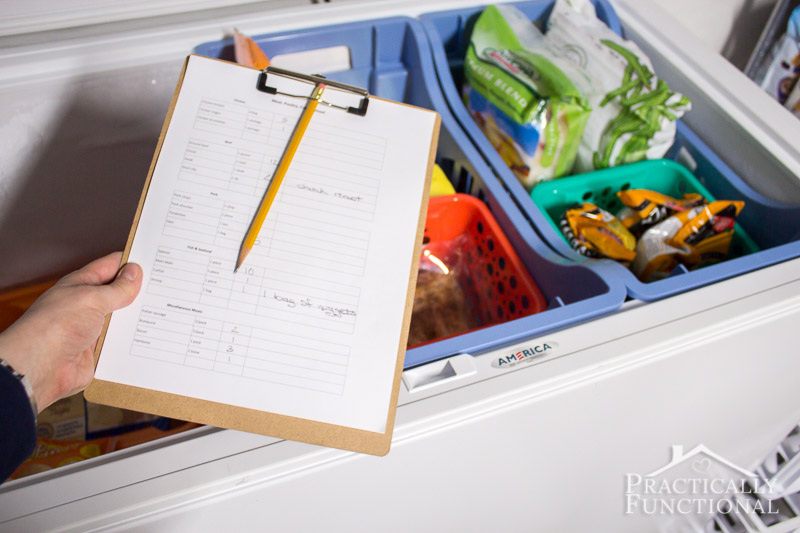 Simple chest freezer inventory system that s easy to set up and maintain 7