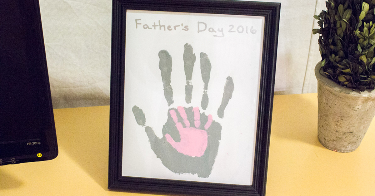 Diy Father S Day Handprint Craft