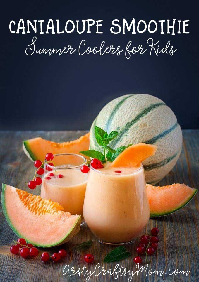 Healthy Melon Banana Smoothie - and 15 other delicious summer drink recipes!