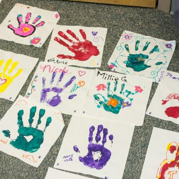 Family Reunion Handprint Crafts