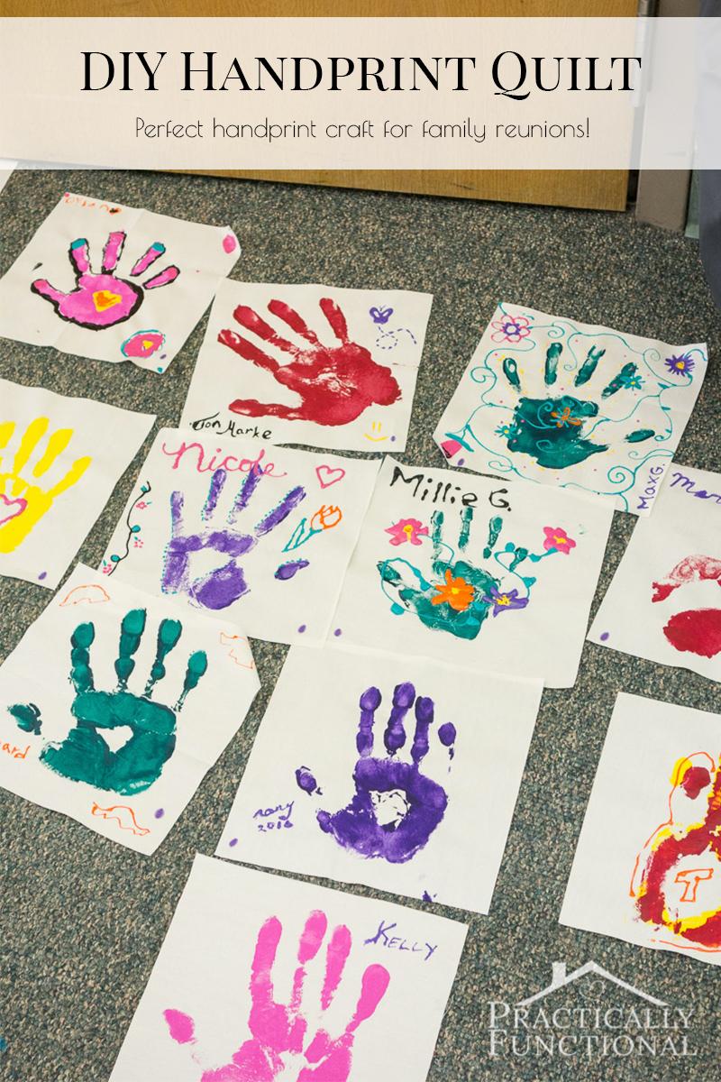 Family Reunion Handprint Crafts