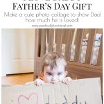 "This ""I Love Daddy"" photo collage is such a cute Father's Day gift idea! And all you need are crayons, cardboard, and a picture frame!"