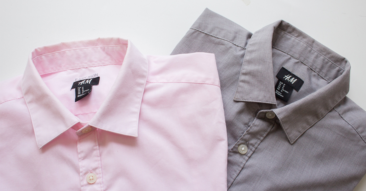 how to clean the ring around the collar of your dress shirts