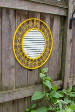 Bright Yellow Mirror Makeover
