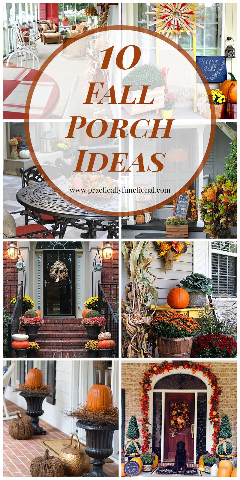 10 fall porch ideas. Black Bedroom Furniture Sets. Home Design Ideas