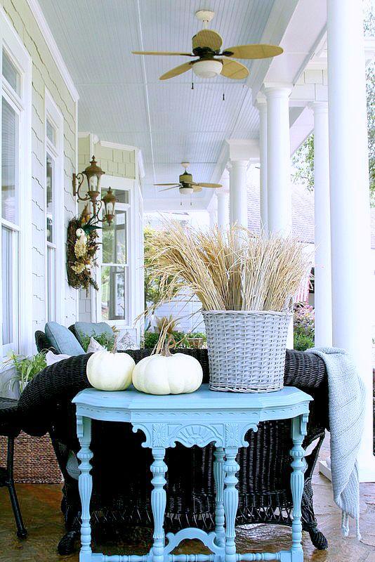 10 fall porch ideas for Front porch fall decor