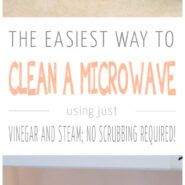 how to clean a microwave with vinegar and steam