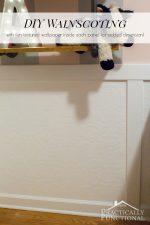 DIY Wainscoting With Textured Wallpaper