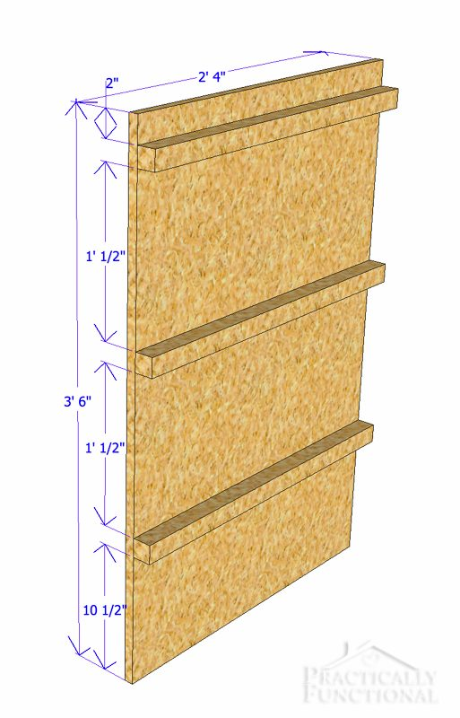 Simple DIY Laundry Basket Dresser vertical piece dimensions 2