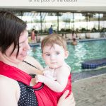 Take your baby or toddler in the pool with you with this DIY water ring sling! Hands-free and worry-free!