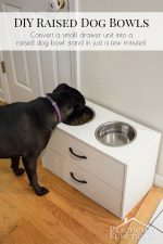DIY Raised Dog Bowl Stand