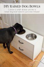 DIY Raised Dog Bowl Stand