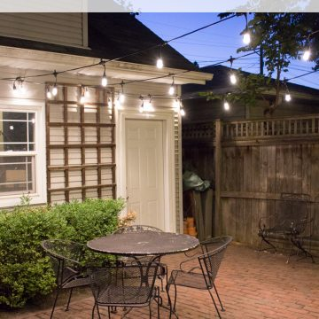 Fall Patio Fix Up With String Lights