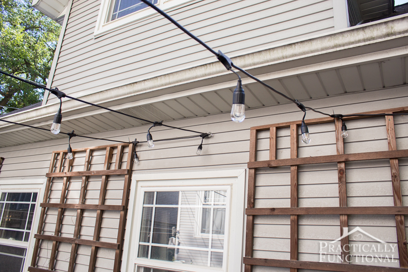Hang String Lights Over Patio : Fall Patio Fix Up With String Lights