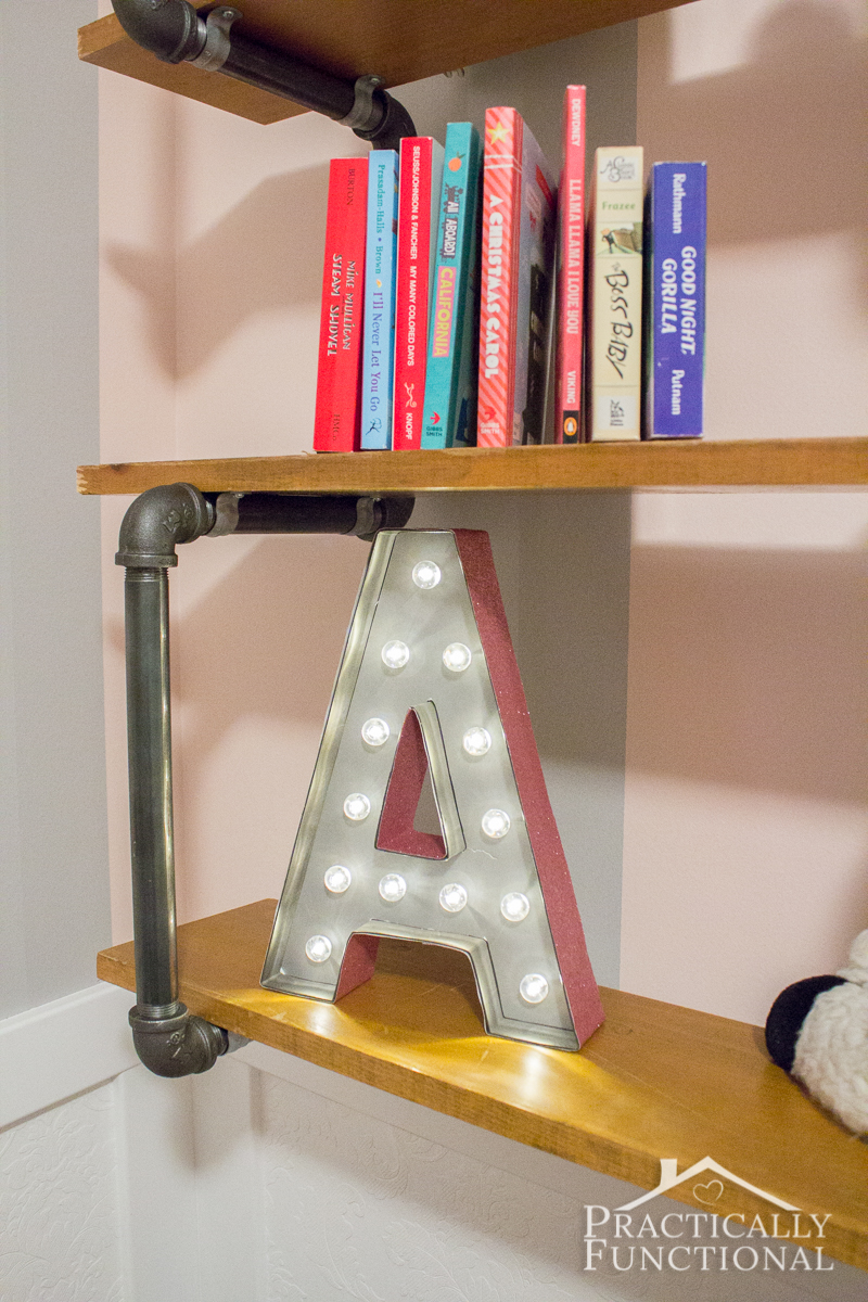Make a DIY marquee letter in just a few minutes! Start with a Heidi Swapp marquee letter, add spray paint and scrapbook paper, and you're done!