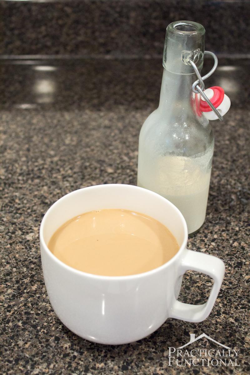 Simple homemade french vanilla coffee creamer recipe