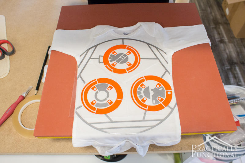 DIY BB8 Costume For Baby 2