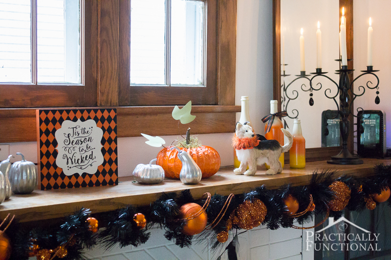 DIY Festive Halloween Mantel 4