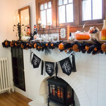 DIY Fun & Festive Halloween Mantel