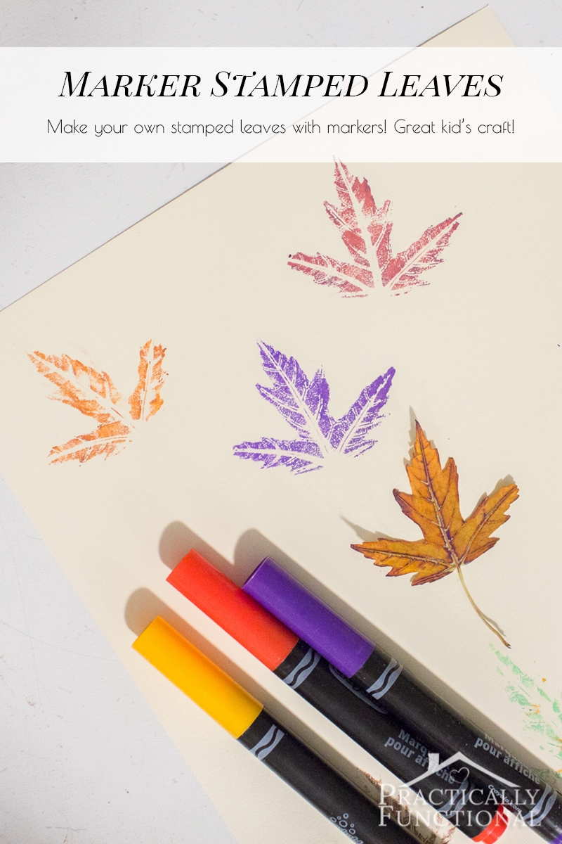 how to stamp with real leaves and markers