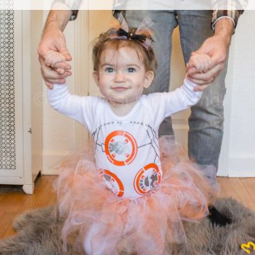 Easy DIY BB-8 Costume For Baby