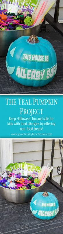 Join the Teal Pumpkin Project and offer non-food items to trick or treaters in addition to candy! Keep Halloween fun and safe for all kids!
