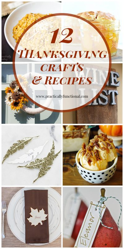 If you're looking for some great ideas for Thanksgiving this year, here are 12 Thanksgiving crafts and recipes!