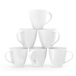 Ceramic coffee mugs - White - 16 oz