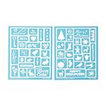 Martha Stewart Crafts adhesive stencils - Holiday Icons