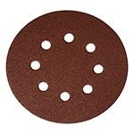 "Random orbit sander sandpaper, 5"", 8 hole disc, hook and loop attachment - 80 grit"