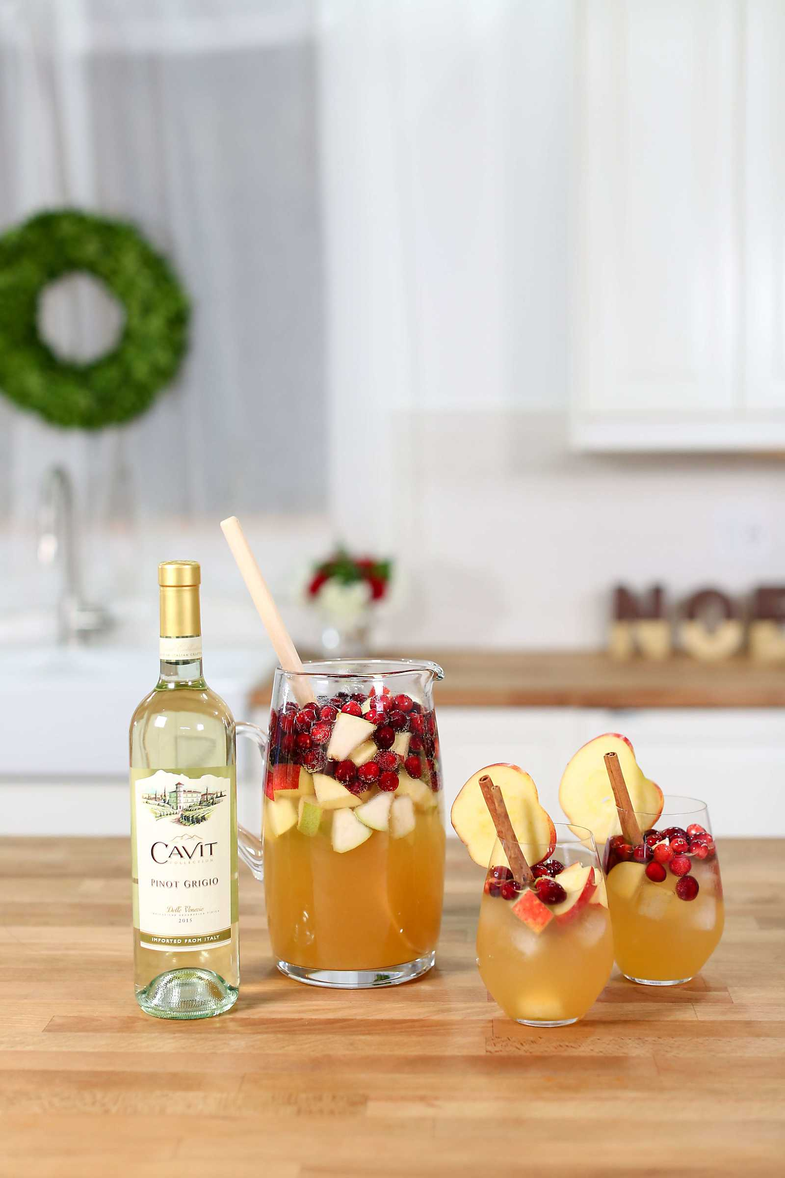 Sangria isn't just for summer! This apple cider sangria recipe is perfect for fall or winter!