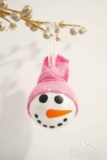 DIY Snowman Ornament With A Sock Hat