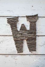 DIY Twig Monogram