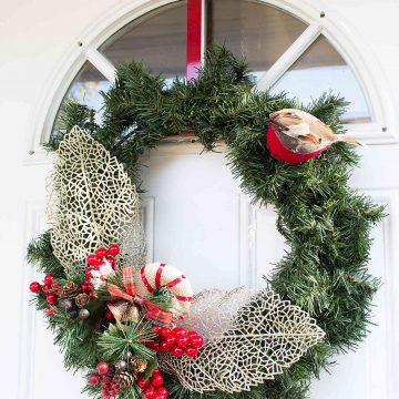 DIY Winter Greenery Wreath