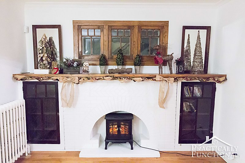 Christmas Mantel Decor Practically Functional Photo 5
