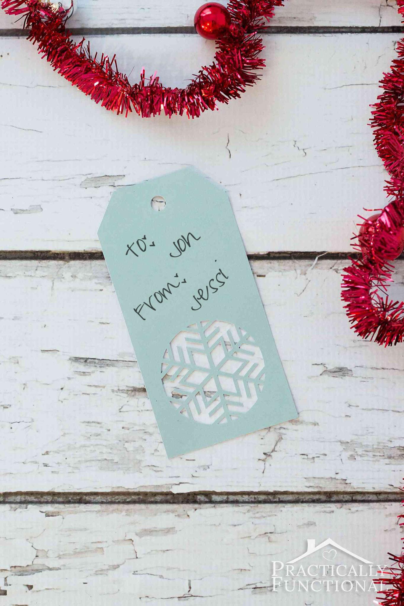handmade snowflake christmas gift tags   free template