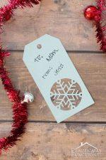 Handmade Snowflake Christmas Gift Tags + Free Template
