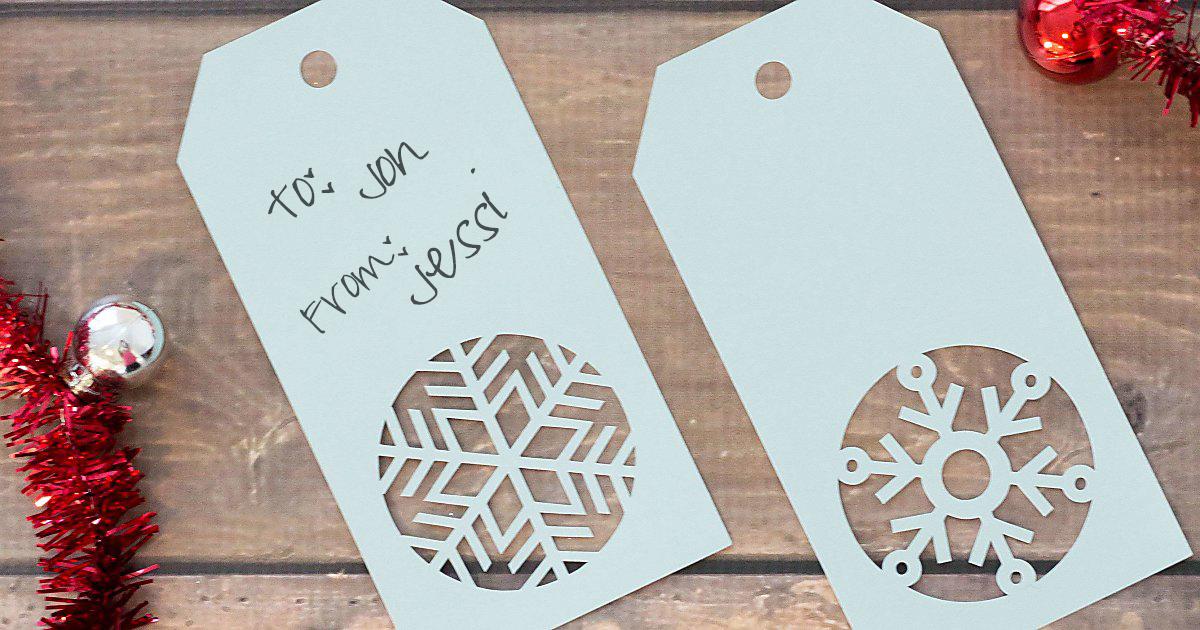handmade snowflake christmas gift tags free template - Christmas Tags Handmade