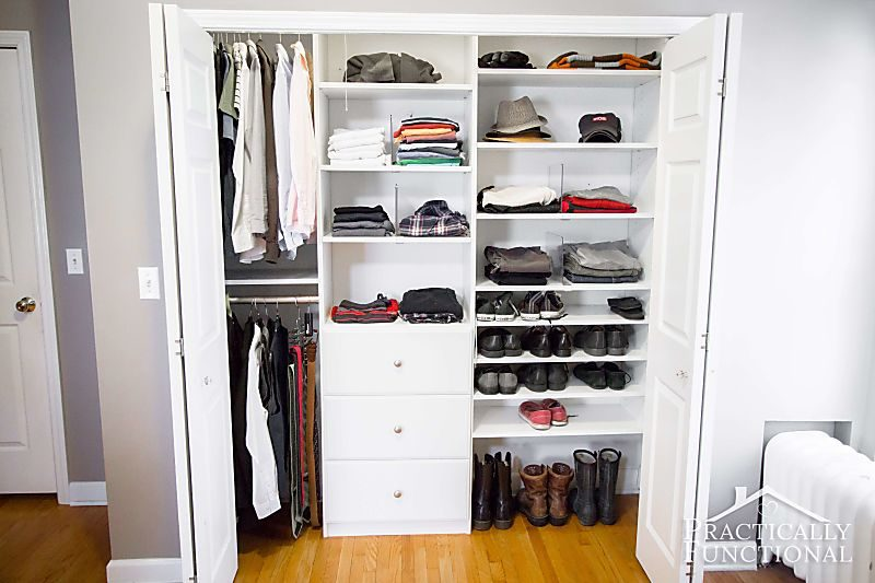 his and hers organized closet