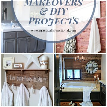 Give your bathroom a gorgeous makeover with these 12 inspiring DIY bathroom projects!