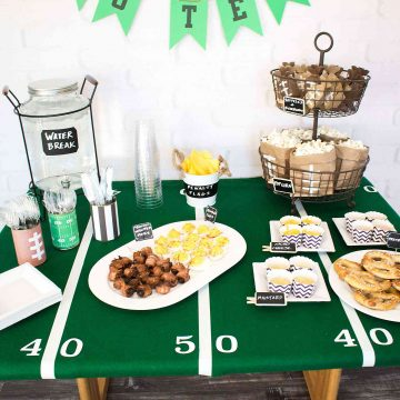 DIY Football Field Tablecloth