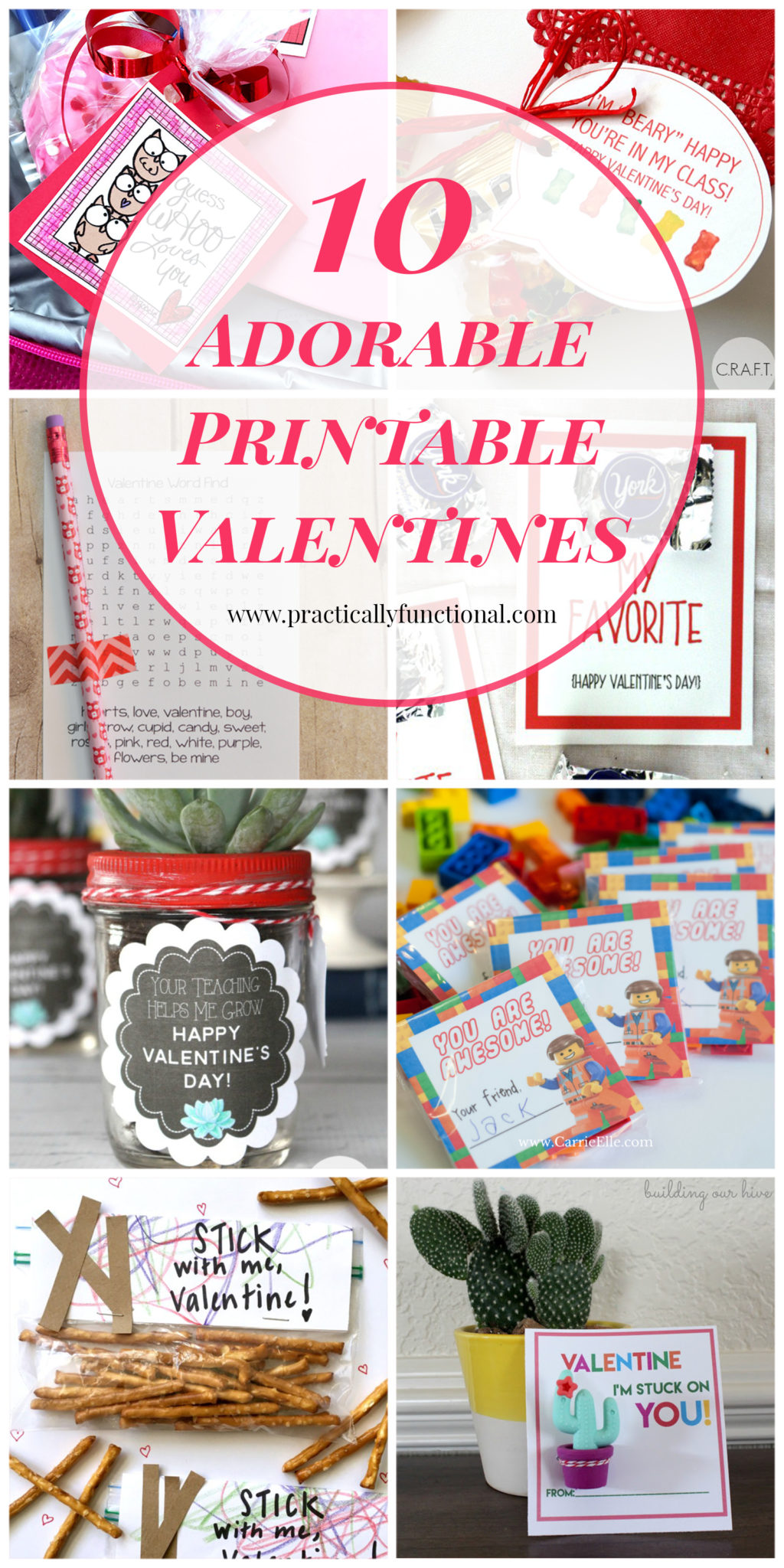These printable valentines are so cute! Perfect for classroom valentines!