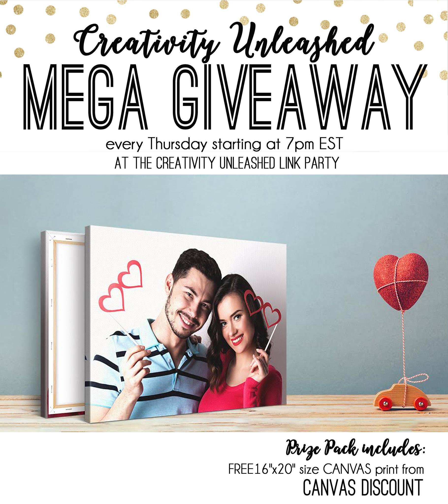 Share your latest projects, browse hundreds of others for inspiration, and enter to win a free canvas print at the Creativity Unleashed party!
