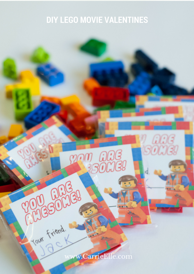 DIY LEGO MOVIE VALENTINES WITH FREE PRINTABLE - and 9 other cute printable valentines!
