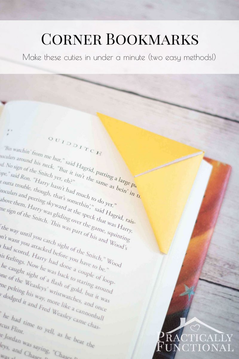How to make corner bookmarks two ways How to make a simple bookmark