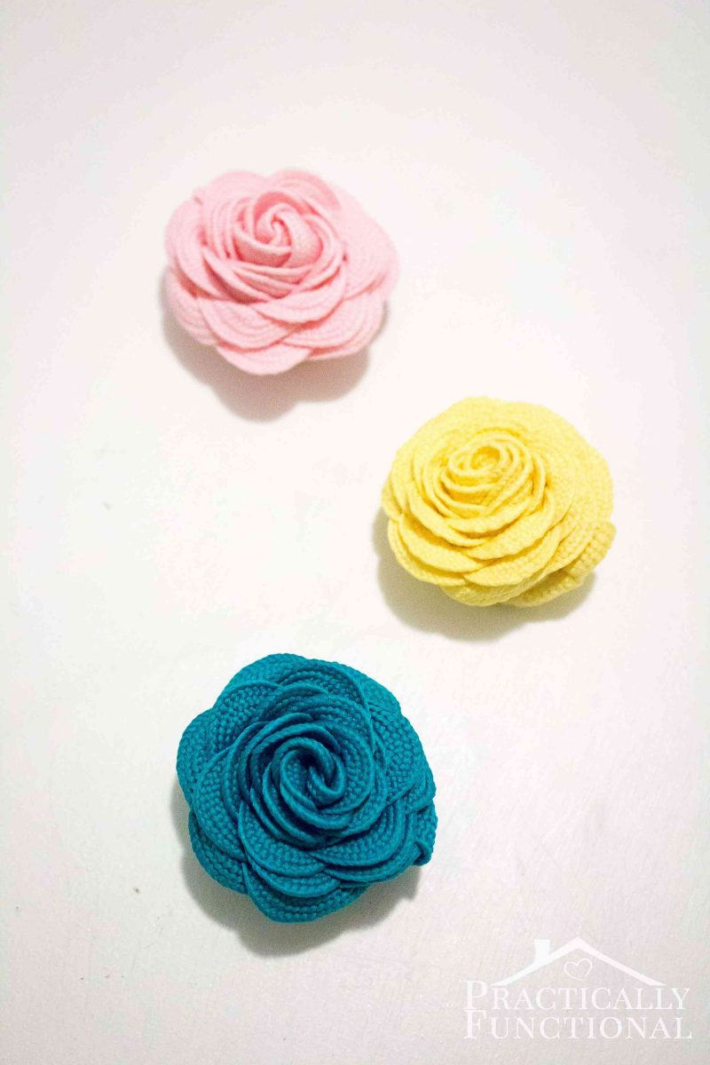 How to make ric rac flowers in under five minutes